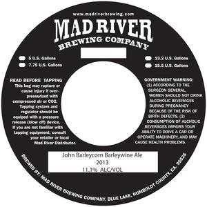 Mad River Brewing Company John Barleycorn