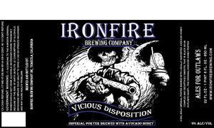 Ironfire Brewing Company Vicious Disposition