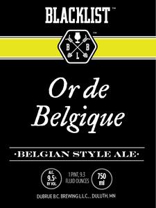 Blacklist Or De Belgique
