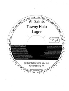 All Saints Brewing Co., Inc. All Saints Tawny Halo
