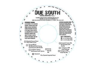 Due South Brewing Co Pico Duarte Imperial Stout