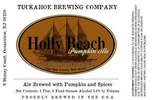 Tuckahoe Brewing Company Holly Beach Pumpkin Ale