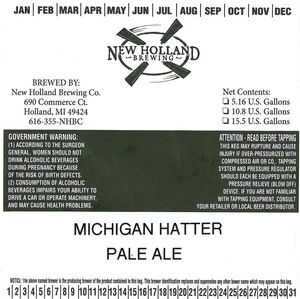 New Holland Brewing Co. Michigan Hatter