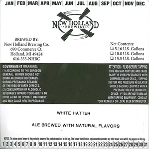 New Holland Brewing Co. White Hatter