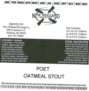 New Holland Brewing Co. Poet