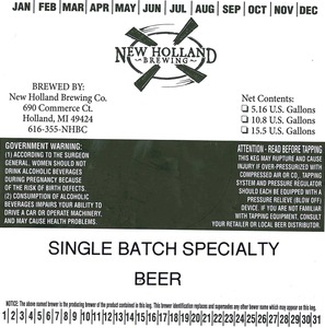 New Holland Brewing Co. Single Batch Specialty