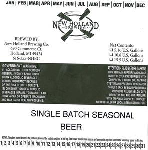 New Holland Brewing Co. Single Batch Seasonal