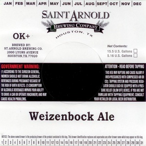 Saint Arnold Brewing Company Weizenbock