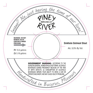 Piney River Brewing Co. LLC Sinkhole
