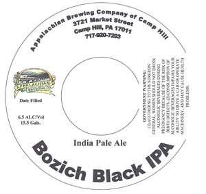 Appalachian Brewing Co Bozich Black IPA