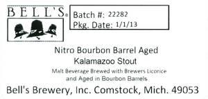 Bell's Nitro Bourbon Barrel Aged Kalamazoo