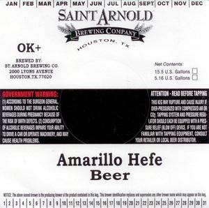 Saint Arnold Brewing Company Amarillo Hefe