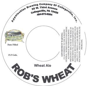 Appalachian Brewing Co. Rob's Wheat