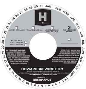 Howard Brewing The Weekender Pilsner