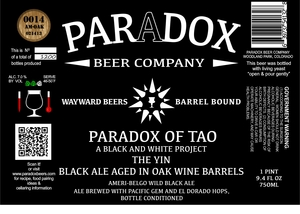 Paradox Beer Company Inc The Yin