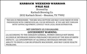 Karbach Brewing Company Karbach Weekend Warrior