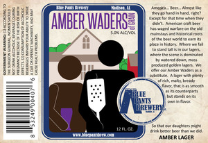 Blue Pants Brewery Amber Waders