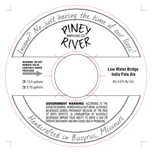 Piney River Brewing Co. LLC Low Water Bridge