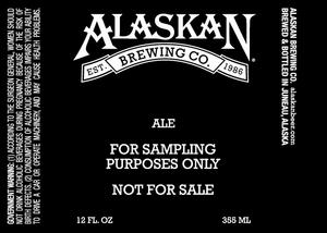 Alaskan Brewing Company Ale For Sampling