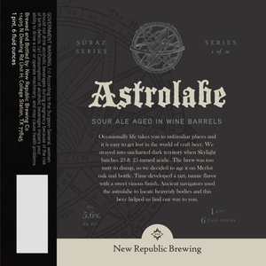 New Republic Brewing Company Astrolabe