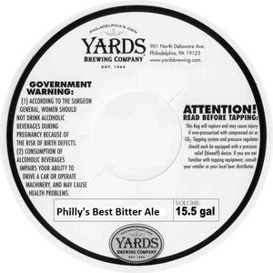 Yards Brewing Company Philly's Best Bitter Ale