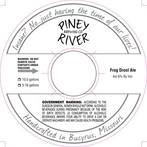 Piney River Brewing Co. LLC Frog Drool