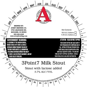 Avery Brewing Company 3point7 Milk Stout