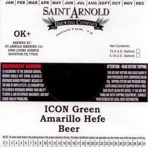 Saint Arnold Brewing Company Icon Green Amarillo Hefe
