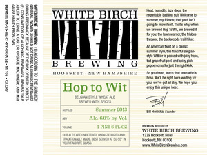 White Birch Brewing Hop To Wit