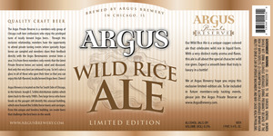 Argus Private Reserve Wild Rice Ale