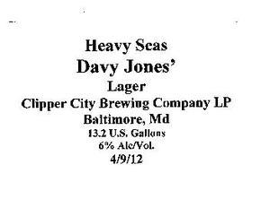 Heavy Seas Davy Jones