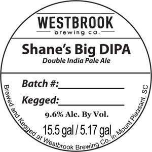 Westbrook Brewing Company Shane's Big Dipa