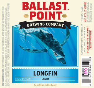 Ballast Point Brewing Company Longfin