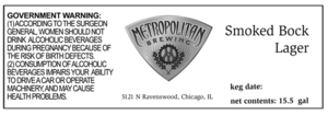 Metropolitan Brewing Smoked Bock Lager