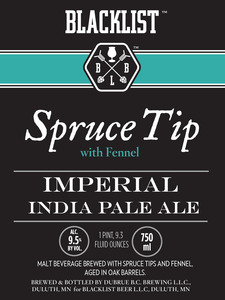 Blacklist Spruce Tip Imperial India Pale Ale