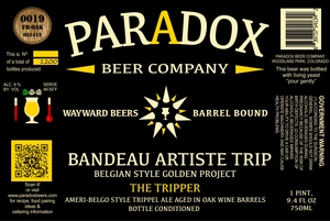 Paradox Beer Company Inc The Tripper