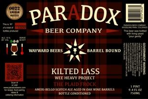 Paradox Beer Company Inc The Plaid Frock