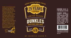 Gordon Biersch Brewing Company Dunkles Unfiltered Dark