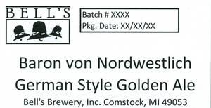 Bell's Baron Von Nordwestlich German Style Gold