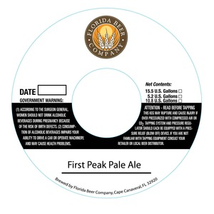 Floeida Beer Company First Peak Pale Ale