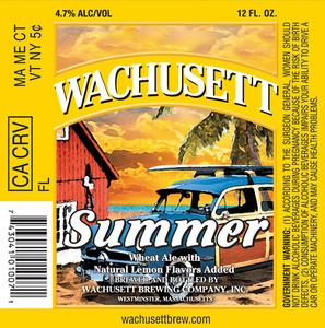 Wachusett Brewing Company, Inc. Summer