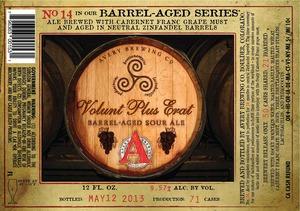Avery Brewing Company Volunt Plus Erat Barrel-aged Sour