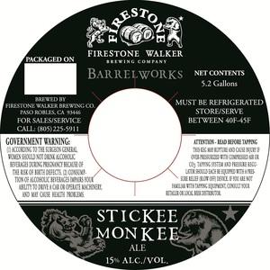 Firestone Walker Brewing Company Barrelworks Stickee Monkee