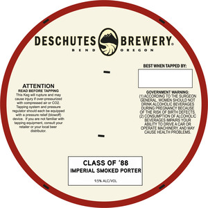 Deschutes Brewery Class Of '88