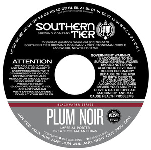 Southern Tier Brewing Company Plum Noir