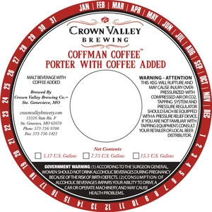 Crown Valley Brewing Coffman Coffee