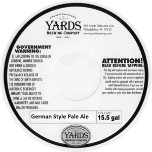 Yards Brewing Company German Style Pale Ale