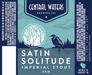 Central Waters Brewing Company Satin Solitude