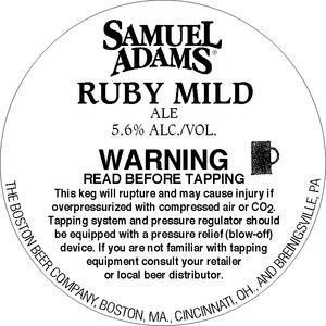 Samuel Adams Ruby Mild