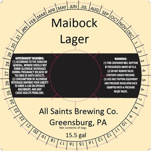All Saints Brewing Co. Maibbock